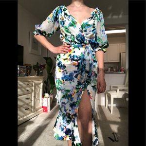 Saloni floral dress